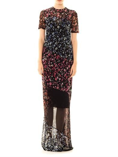 Preen by Thornton Bregazzi Elli forget-me-not print maxi dress