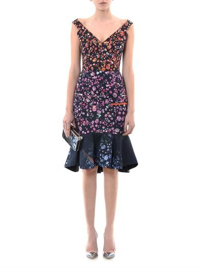 Preen Morgan forget-me-not print dress