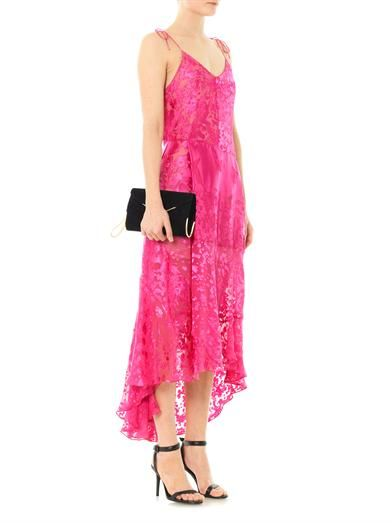 Preen by Thornton Bregazzi Avery flower devoré silk dress
