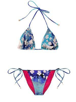 Splash-print bikini