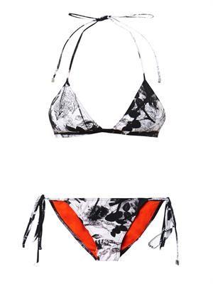 Novak blackbird-print bikini