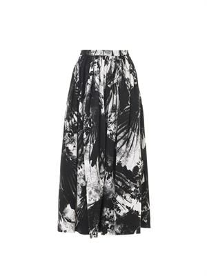 Paradine blackbirds-print skirt
