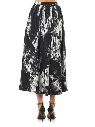 Preen by Thornton Bregazzi Paradine blackbirds-print skirt