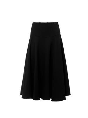 Tippi bonded-crepe skirt