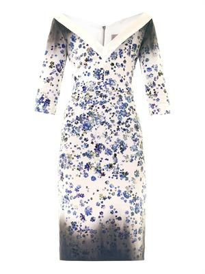 Darla forget-me-not-print fitted dress