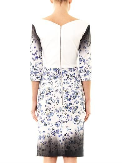 Preen by Thornton Bregazzi Darla forget-me-not-print fitted dress