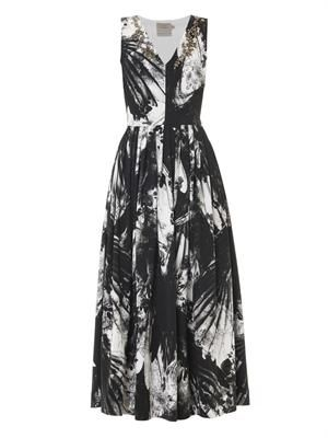 Vertigo blackbirds-print dress