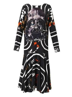 Vader Darth Vader-print silk dress