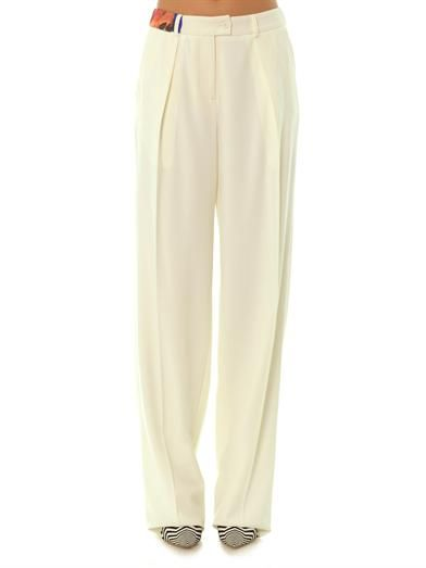 Preen Balloon wide-leg fluid trousers