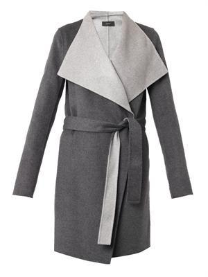 Lisa Long double-faced coat