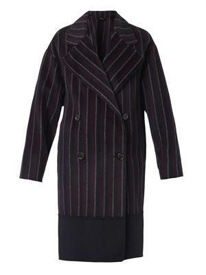 Maubert double-breasted cashmere coat