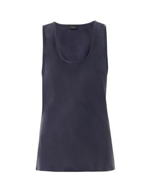 Dandy washed-satin tank