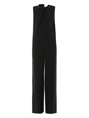 Terry crepe jumpsuit