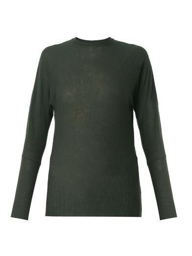 Joseph Fine-knit dark-green cashmere sweater