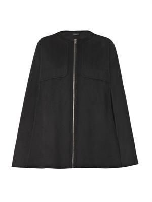 Capon cashmere and wool-blend cape