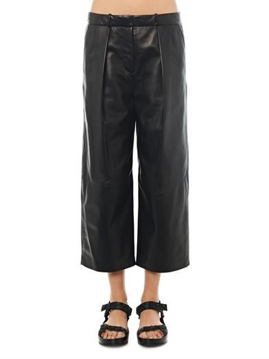 Joseph Savile cropped leather trousers