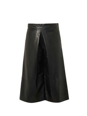 Billy leather culottes