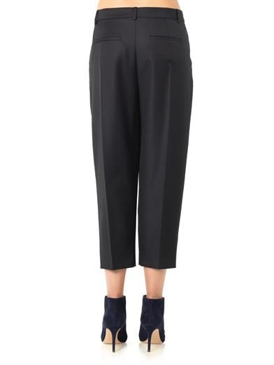 Joseph Savile pleated-front cropped trousers