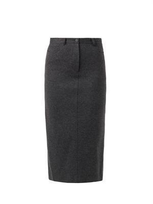 Clan five-pocket wool-blend skirt