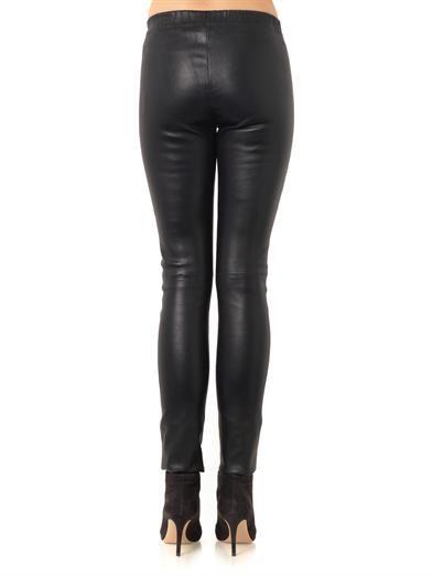 Joseph Mid-rise leather leggings