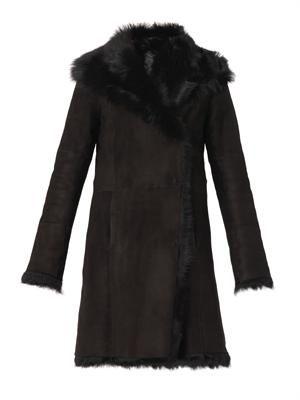 Anais long-length shearling coat