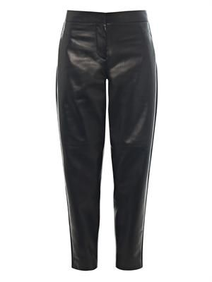 New Herald leather jogger trousers