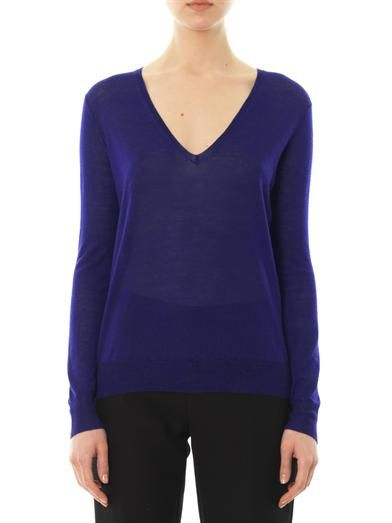 Joseph V-neck cashmere-knit sweater