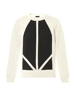 Graphic-print knit sweater