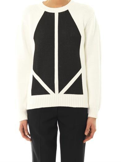 Joseph Graphic-print knit sweater