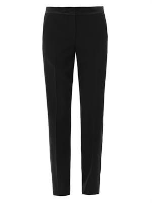 Tuxedo wool-crepe trousers