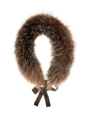 Cerson fox-fur collar