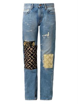 ARIES Patchwork boyfriend jeans