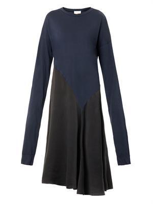 Jersey and silk dress