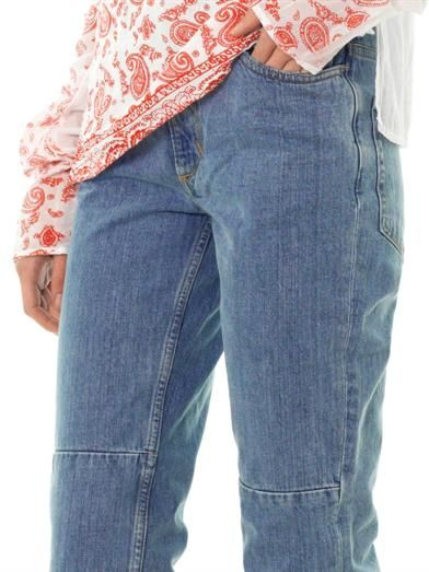 Aries Patched up high-rise straight-leg jeans