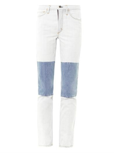 Aries Knee patch high-rise straight-leg jeans