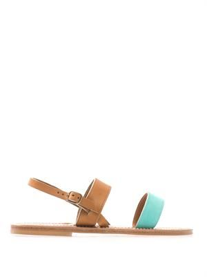 Barigoule suede and leather sandals