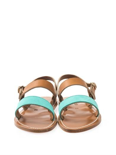 K. Jacques Barigoule suede and leather sandals