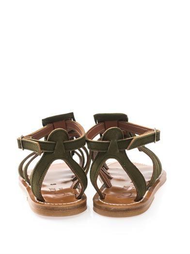 K. Jacques Fregate fringed suede sandals