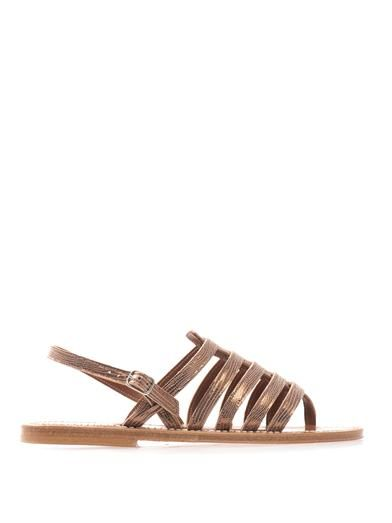 K. Jacques Homere metallic leather sandals