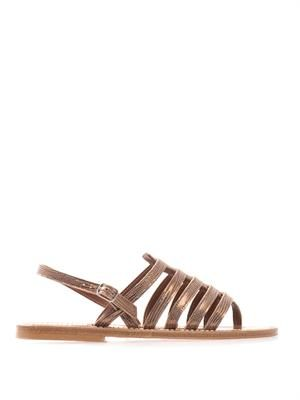 Homere metallic leather sandals