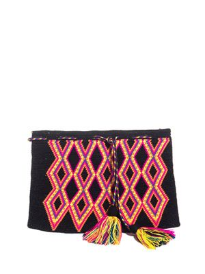 Fina embroidered clutch