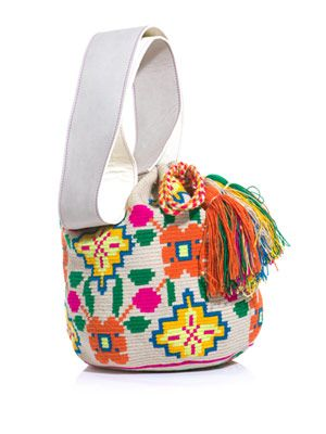 Sophia embroidered bucket bag