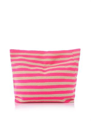 Liliana stripe clutch bag