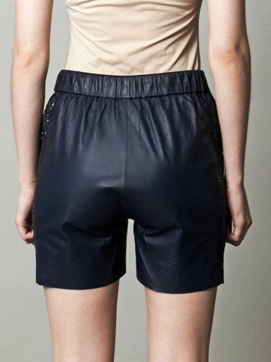Jonathan Simkhai Laser-cut leather board shorts
