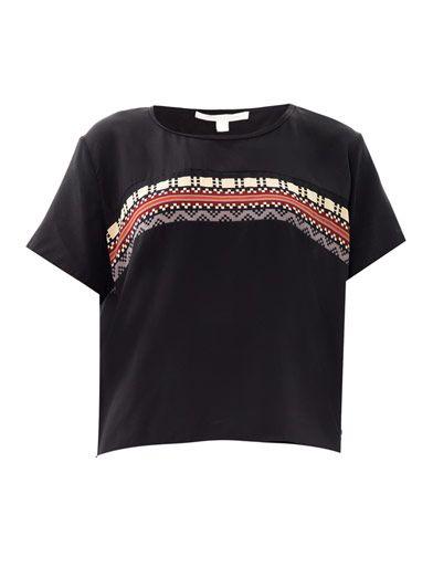 Jonathan Simkhai Pixel stripe silk top