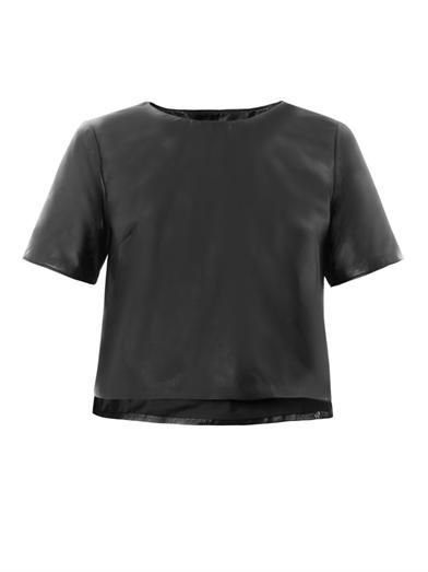 Jonathan Simkhai Cropped leather top