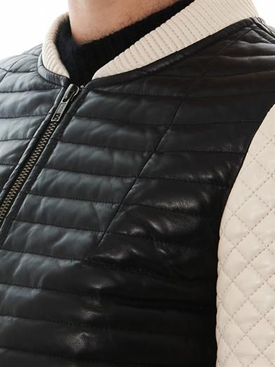 Jonathan Simkhai Quilted leather bomber jacket