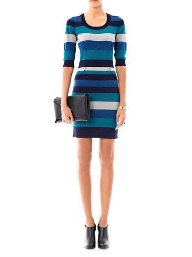 Jonathan Simkhai Stripe knit body-con dress