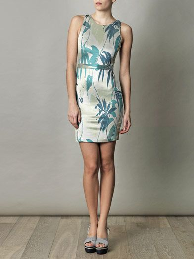 Jonathan Simkhai Leaf-print jacquard dress
