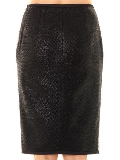 Jonathan Simkhai Metallic boucle skirt